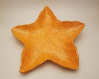 Coral starfish dish