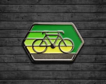 Cyclist Enamel Pin
