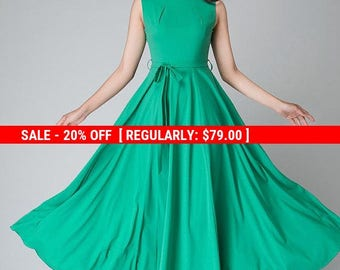 turquoise dress, handmade dress, fit flare dress,Maxi chiffon dress women's dress long prom dress, ladies dresses, 1530
