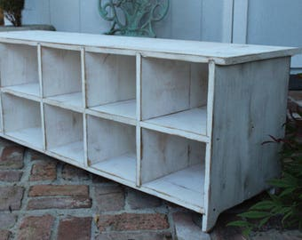 Shoe Storage Bench - Shoe Cubby - Mud Room - Closet Organization - Cubby Bench - Storage - Furniture - Entryway - Hall - Toys - Wood Cubbies