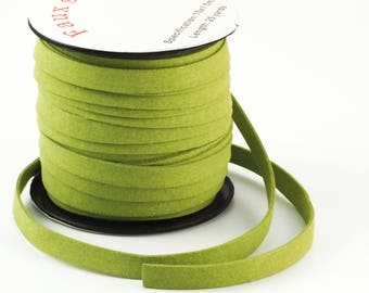 10mm Flat Lime Green Faux Suede Cord - By The Yard