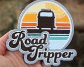 ROAD TRIP Hook and Loop Patch Embroidered Patches EDC Every Day Carry Adventure Patch Collector Gift Retro Van Road Adventure Wanderlust
