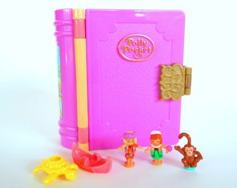 Vintage Polly Pocket Enchanted Storybooks Glitter Island Tropical Island Playset by Bluebird Toys 1995