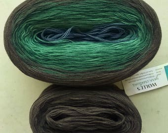 KAL Kit ~ FRANCISCAN II -- Color Changing Cotton yarn --  Fingering Weight -- 960 yards