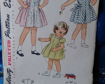 1950s Simplicity girls dress Pattern 2243 size 3