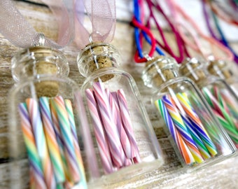 Choose Any 4 Jar Necklaces Set - 4  Candy Jar Necklaces - Your Choice - Sale!