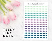 Teeny Tiny Dot Stickers, Circle Planner Stickers, Erin Condren Stickers, Bullet Journal Stickers, Happy Planner Stickers, Just Breathe