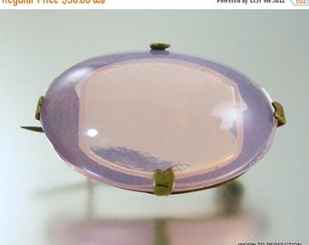 45% off Sale Czech Pink Glass Brooch