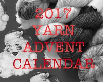 2017 hand dyed yarn advent calendar