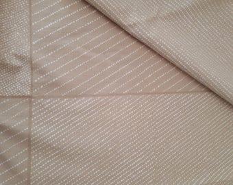 SUPER SUMMER sale Marimekko vintage MÄTÄS fabric beige light brown and natural white Fujiwo Ishimoto 1979