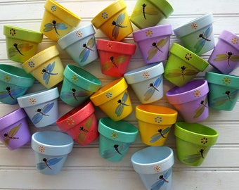 Small Flower Pots - Kids Party Favors - Set of 25 - Outdoor Kids Party - Seed Planting Party