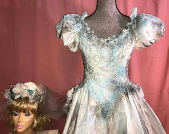 Costume wedding etsy for Corpse bride wedding dress for sale