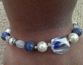 Handmade OOAK #15 beaded bracelet