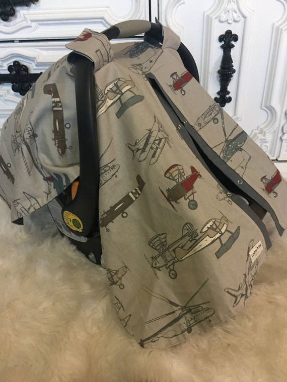 Car seat canopy , Vintage Planes
