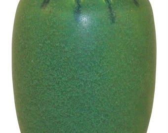 Rookwood Pottery 1910 Matte Green Carved Vase 77C (Hentschel)