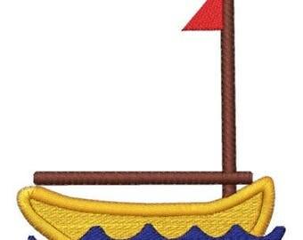 Embroidery Machine File  31002-03-05 Sail Boat Monogram Frame