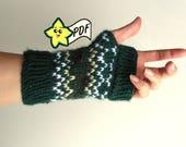 PDF Knit Glove Pattern: Fits Like A Glove Style Fingerless Gloves PATTERN