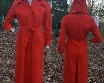 Womens Trench Coat, 70s Trench Coat, Red Trench Coat, Vintage Coat, 70s Coat, Gift For Her, Fleet Street, Trench, Womens Coat, Hampton Court