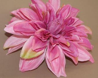 Violet Pink Silk Dinner Plate Dahlia - Artificial Flower Head, Silk Flower