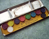 Vintage Antique Kroma No 27 Water Colors Watercolor Tin with Paints – The American Crayon Company - Sandusky, Ohio * New York