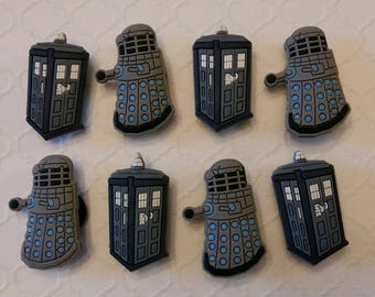 Dr. Who Inspired Magnets or Shoe Charms