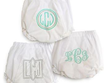 Monogrammed Gift Set / Personalized Baby / Girl Bloomers / Fresh & Fun Bloomer Set