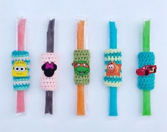 Reserved listing for tovah- popsicle sleeve, ice pop sleeve, crochet popsicle holder,disney party favor, ice pop holder