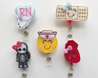 nurse badge reel, nursing badge reel, retractable badge reel, medical badge reel, badge reel nurse, felt badge reel, badge reel, nurse gift