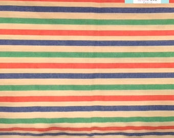 Vintage Pillowcase with Multi Stripe