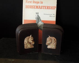 Bookends Vintage Horse Image - Den Office Library - Home Decor Western Equine
