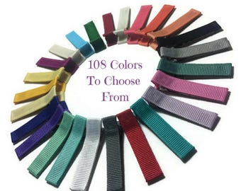 300 Solid Lined Alligator Clips, Solid Hair Clips, Lined Hair Clips, No Slip Hair Clips, Partially, Fully Lined, Double, Single Prong Clips