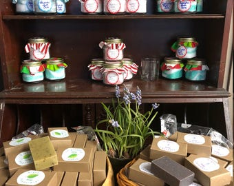 Handmade Organic Soap, Bar Soap, organic Soap, Essential oil soap, lavender bar soap, peppermint bar soap, organic lavender soap