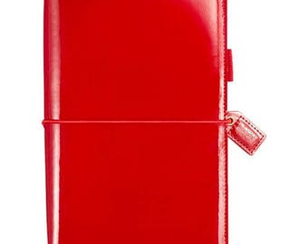 Patent Red Webster's Pages Color Crush Travelers Planner Journal (IN STOCK) Free Washi Tape with this order (TJ001-PTR)