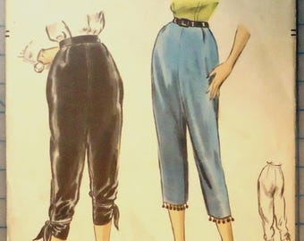 Vogue 8124 - Sewing Pattern - 1950s Ladies Capri Pants