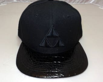 Snapback Flat-Brim Hat - Fire (One-of-a-kind)