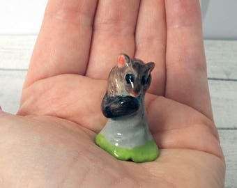 Porcelain ceramic possum figurine  hand crafted Australian pottery by Anita Reay AnitaReayArt possum figurine