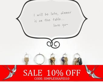 Summer Sale - Unique Dry Erase Message Board - Something to Say - Vinyl Wall Sticker