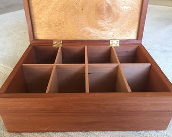 8 section Tea Box made from Cedar