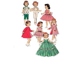 Sewing Pattern - 14 inch Doll's Clothing Wardrobe Toni, Mary HOYER etc - Instant PDF Download