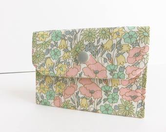 Liberty Lawn 'Poppy And Daisy B' Small Snap Wallet