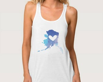 Alaska Heart Tank Top