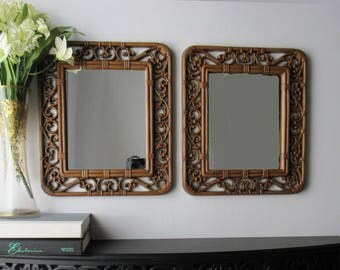 Vintage Mirrors - decorative mirrors - 2 Homco mirrors - lots of feng shui