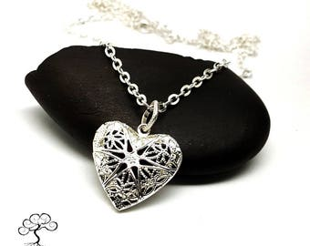 Scent Diffusing Heart Shaped Locket on 32 inch Chain, Best Valentine Gift, Gift Idea, Gift For Her, Scent Diffusing Necklace, Heart Locket,