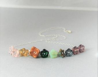 Wild Flowers,Necklace,Flower Jewelry,Gypsy Necklace,Hippie Necklace,Boho Necklace,Flower In Handmade,Flower Jewelry,Flower Garden