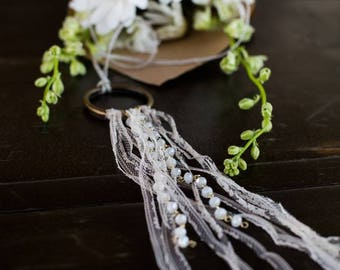 Linen and Lace Necklace