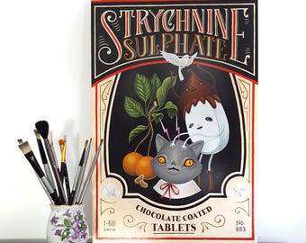 Strychnine Sulphate - original painting by Grelin Machin