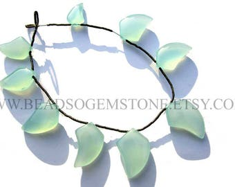 7 Inch Natural Peruvian Chalcedony Beads In Dagger Smooth Shape, (Quality AAA), 11x16 to 16x22, CHALCED-012, Semiprecious Gemstone Beads