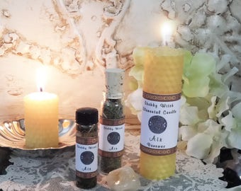 Elemental Candle Air, Beeswax Spell Candle