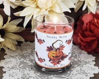 8.oz Pumpkin Pie Candle, Jar Candle, Altar Candle, Fall Candle. Mabon Candle