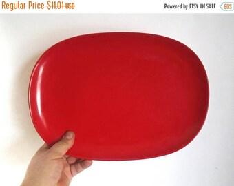 "SALE - Mid Century TEXAS-WARE Red Melamine Platter - 13-7/8"" x 9-7/8"" -  # 141"